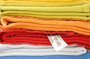 Stack of differently colored knits