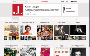 Pinterest account of The Junior League
