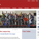 Partial screen grab of League of American Cyclists website