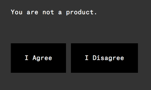 Message seen during Ello registration process.