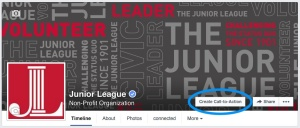 Facebook Call-to-Action button on a nonprofit fan page I manage.