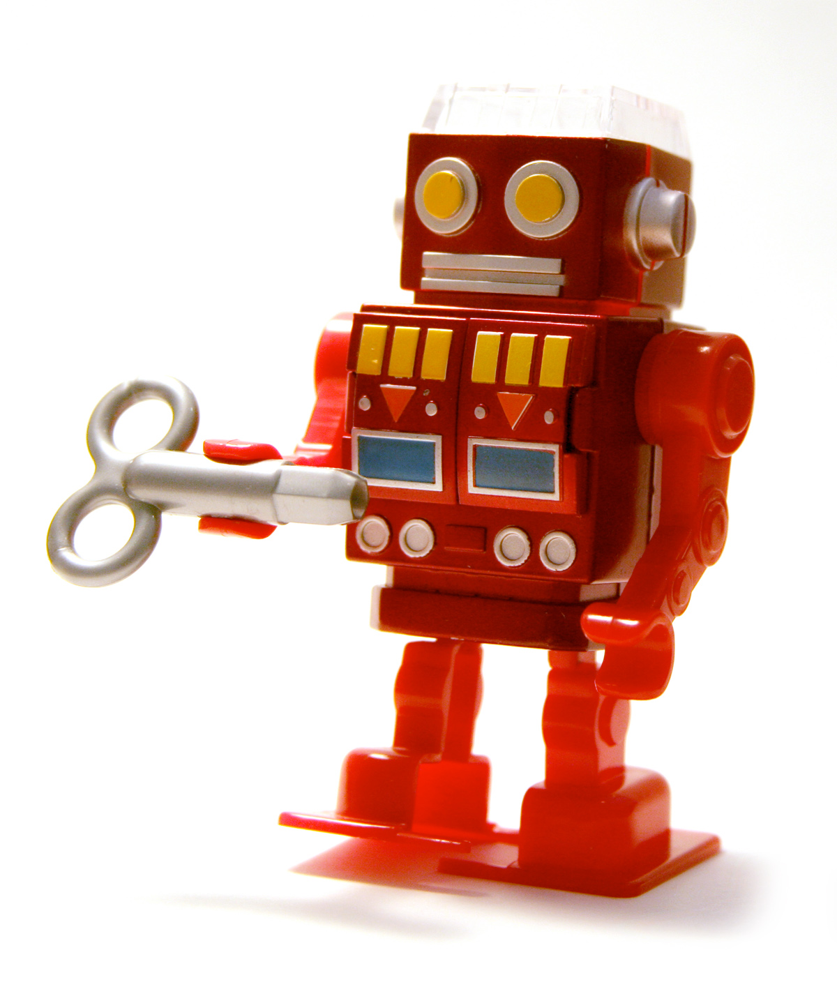 retro red robot